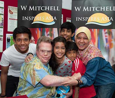 W Mitchell inspires Asia